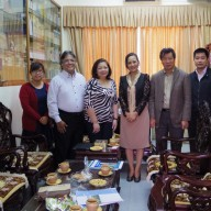 Photo inside the JAV office at the Vietnam National University.  In photo from left to right:  Ms. Nguyen Huyen Trang (Deputy Secretary General), Mr. Philip Sanvictores, Mrs. Patricia Maribel Sanvictores, Dr. Ngo Minh Thuy (JAV President), Dr. Nguyen Ngoc Binh (immediate past President of JAV) and Dr. Phang Trung Nghia (JAV Secretary-General).
