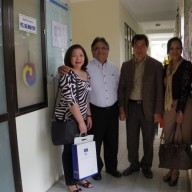 Mr. and Mrs. Sanvictores outside the JAV office with former JAV President Dr. Nguyen Ngoc Binh and current President Dr. Ngo Minh Thuy.