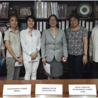 L-R: Mrs. Marilen Laurel-Loinaz (PJFF), Ms. Beatriz P. Mojica (NCF), Ms. Naomi Mes, Ms. Estrella Chan (UMak), Mrs. Edna Ocampo (YAIS) and Mr. Philip Sanvictores (PIJLC-NCF)