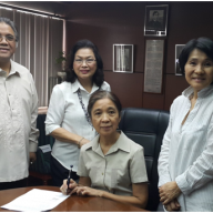 Ms. Beatriz Mojica signed the Deed of Donation on behalf of NCF, with Ms. Naomi Mes, Mrs. Loinaz and Mr. Sanvictores