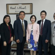 (L-R) Mr. Tetsuya Koide - Asst. Director of Japan Foundation Manila; Mrs. Ma. Elena Laurel-Loinaz - Administrator of the Philippines-Japan Friendship Foundation, Inc.; Minister Makoto Iyori - Minister of Economic Affairs Embassy of Japan; Director Nimfa de Guzman - POEA; Mr. Hiroyuki Enoki - Labor Attaché; and Mr. Philip B. Sanvictores - President of Nihongo Center Foundation