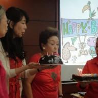 The February and March Celebrants: L-R: Mrs. Victoria A. Aoki, Mrs. Atsuko Kikuchi, Mrs. Haruko Murakami and Mrs. Bernadette A. Sanvictores