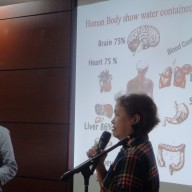 Water Purifier Demonstration, Amway. Mr. Yusuke Nakaguchi and Mrs. Masako