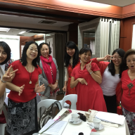 L-R: Mrs. Konomi Fukushima, Mrs. Naomi Uesugi, Mrs. Yoshiko Suzuki, Mrs. Atsuko Kikuchi, Mrs. Noriko Maruhashi, Mrs. Miho Miura and Mrs. Haruko Murakami