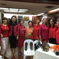 L-R: Mrs. Ma. Elena Laurel-Loinaz, Mrs. Tomoko Nakagawa, Mrs. Yuko Iyori, Mrs. Ernestina Jocson, Mrs. Teresita S. Medalla, Mrs. Amparo (Queenie) S. Mills, Mrs. Victoria S. Aoki, Ma. Marissa Saludo, Ms. Rita Baltazar