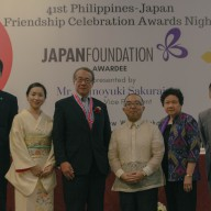 Mr. Tomoyuki Sakurai with officers of the Japan Foundation Manila