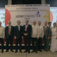 Mr. Tomoyuki Sakurai with members of the Philippines Society of Japan