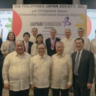 Mr. Tomoyuki Sakurai with the Board of Trustees and Officers of PHILJEC