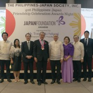 Mr. Tomoyuki Sakurai with Heads of the affiliated organizations of the Philippines Japan Society